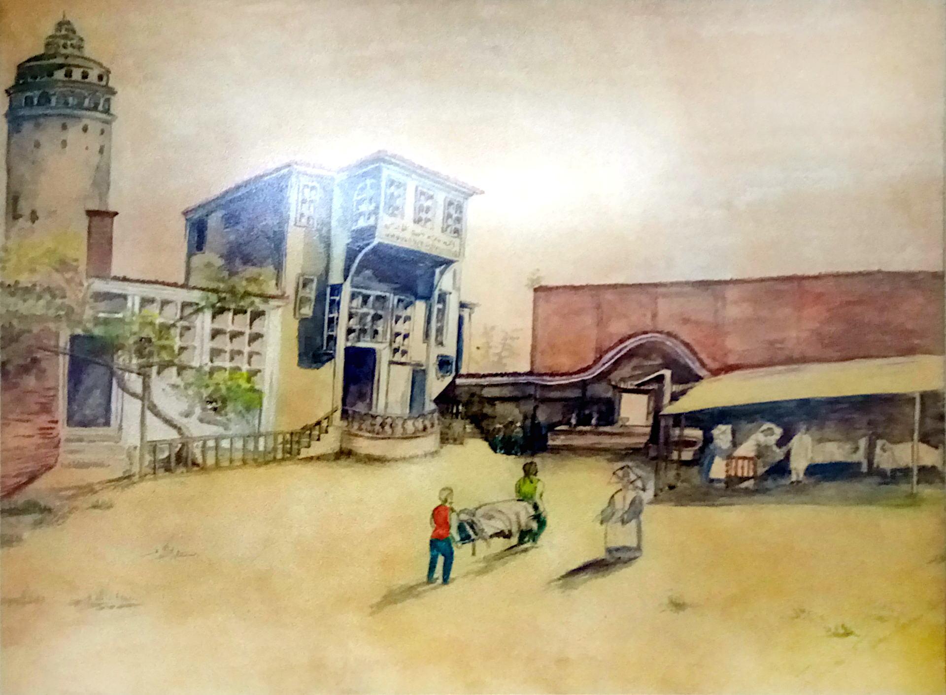 Szpital w czasie cholery-1872
